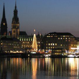 Высшее образование в Германии Гамбург ночью