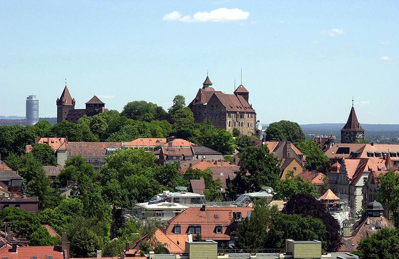 Nürnberg: Stadtansicht mit Burg