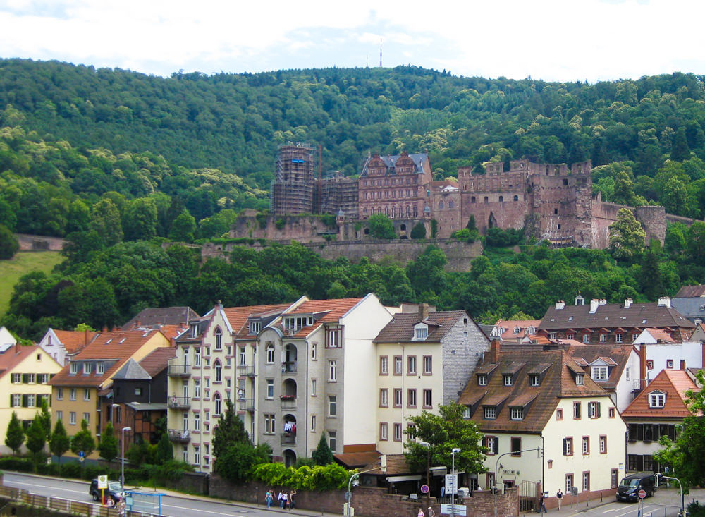 Высшее образование в Германии Гейдельбергский университет, вид на старый город