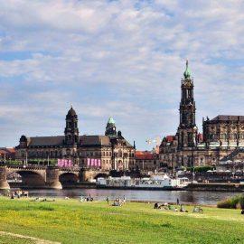 Курсы немецкого языка в Дрездене 9781304 – panorama of dresden from river bank of elba